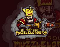 Zharrduk Muzzleloaders team logo. Blood bowl team