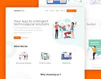Software Company Landing Page