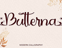 Free Butterna Calligraphy Font