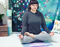 Samanna Yoga Mat by Nina May Designs for Kess InHouse