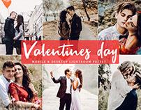 Free Valentines Day Mobile and Desktop Lightroom Preset