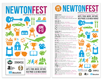 Newton Fest Event Collateral
