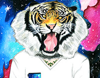 Tiger Man Illustration, Ad