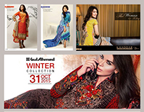 Textile Design Promotional Banners and Posters