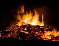 Burning Pile of Wood
