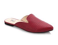 Dark red slipper