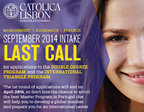 Católica Lisbon Business Email Marketing + Display Adv