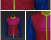 quilted jacket 3d model