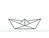 origami boat illustrated instructions