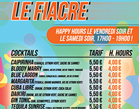« Le Fiacre » - Carte happy hours