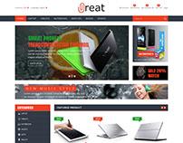 E-Commerce Prestashop PSD Website.