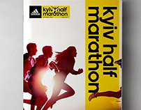Kiev Half Marathon.Corporate identity & graphic concept