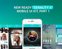 "New Ready ""Genality II"" Mobile UI Kit Part 1"