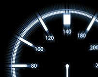 Interior car gauge design