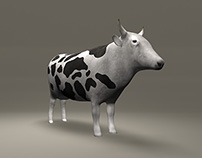 Low Poly Cow Model