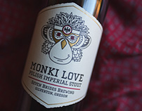 Seven Brides Brewing's Monki Love — Label Design