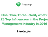 123 Top Influencers in the Project Management Industry!