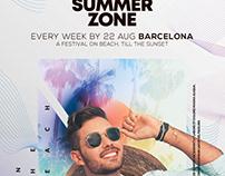 Summer Zone Flyer Template (PSD)