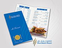 Menu of Blue Beach Resort