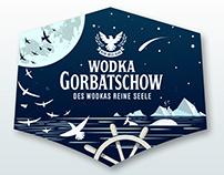 Label Design for Wodka Gorbatschow