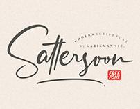 FREE | Sattersoon Modern Script Font