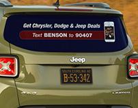Benson CDJ Table Tent & Car Decal