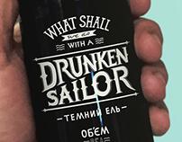 """Dark ale """"DRUNKEN SAILOR"""" (Concept)"""