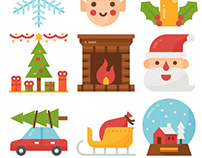 Christmas icon set