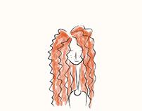 Redhead Doodling