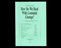 How Do We Deal With Constant Change? FOCA zine