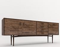 Mid century cabinet. 3dmodel+render