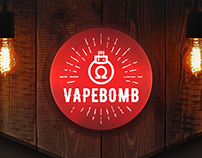 VAPEBOMB — branding for online vape shop