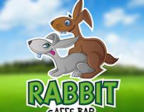 Caffe Bar Rabbit Mascot Logo