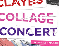 Clayes Collage Concert Poster