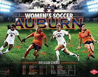Auburn Soccer Poster