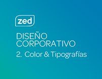 Zed - Diseño corporativo - Color y Tipografías