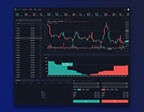 Cryptocurrency Exchange-Live-Price Page Dark Version