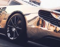 McLaren 12C 24K Gold Concept - Full CGI