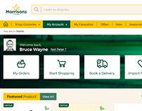 Morrisons online shopping website redesign