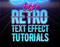 80's Retro Text Effect Tutorials
