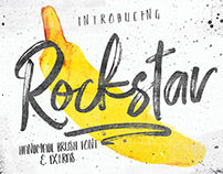 ROCKSTAR - FREE FONT DUO & PHOTOSHOP BRUSH SET
