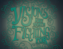 Visions – Hand Lettered Poster