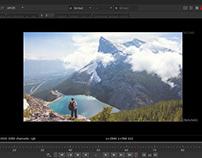 Proyección de cámara en NUKE Compositing. montaña