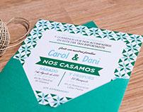 Invitaciones de Boda de Carol y Dani