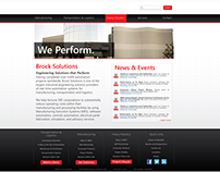 Brock Solutions Frontpage Redesign