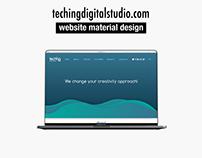 techingdigitalstudio.com website material design