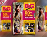Fashion Big Sale Flyer Template PSD