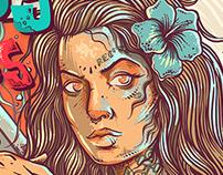Cover Olhos Aquáticos Rockabilly- Recife - Brazil