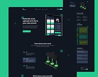 Scann app - Landing page design