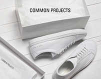 Common Project — Minimalist footwear brand web design
